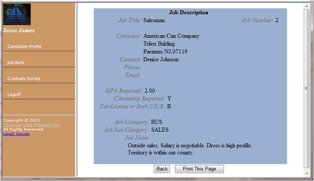 Web Graduate/Job Portal